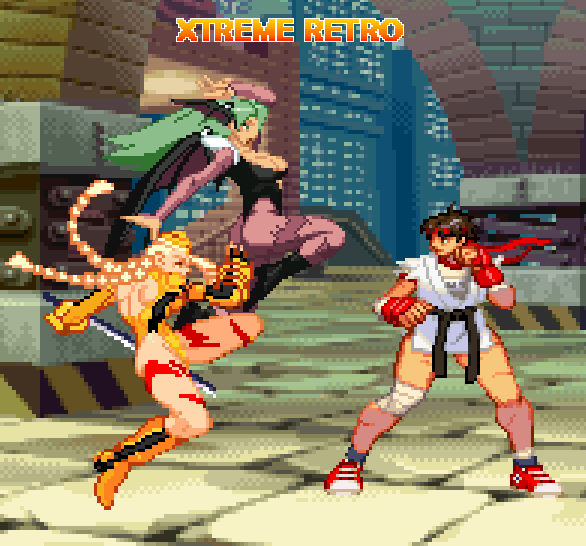 Street Fighter Sakura Dramatic Battle Pixel Art Xtreme Retro