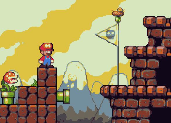 Super Mario Bros Deluxe Game Boy Color Nintendo Pixel Art Xtreme Retro 1
