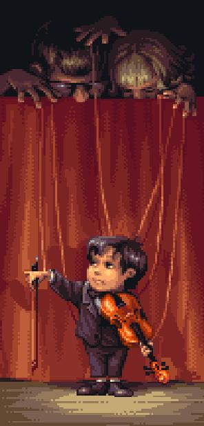 The Violinist of Hamelin Enix Super Famicom SNES Super Nintendo Pixel Art Xtreme Retro