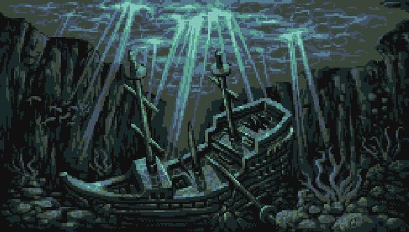 Barco Naufragio Pixel Art Xtreme Retro