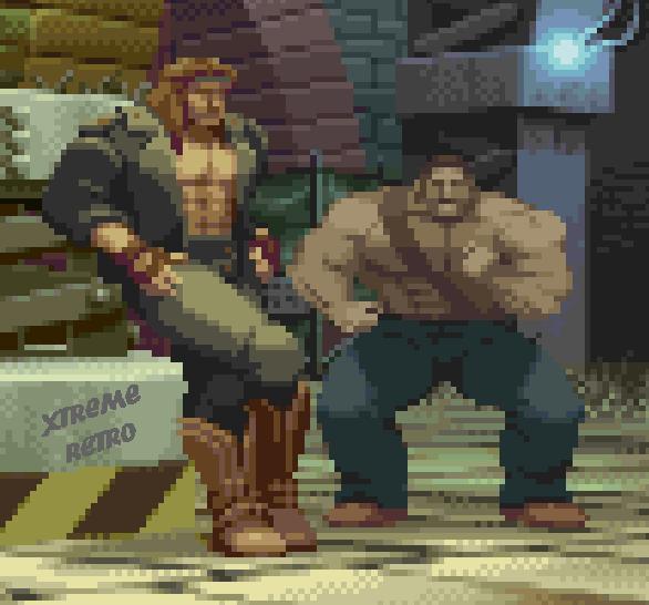 Final Fight Mike Haggar Axl Capcom Arcade Pixel Art Xtreme Retro