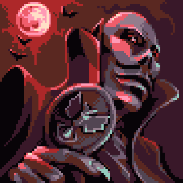 Master of Darkness Sega Master System Game Gear Pixel Art Xtreme Retro SIMS Castlevania Clon Dracula