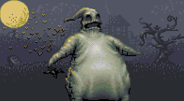 Nightmare Before Christmas Tim Burton Oogie Boogie Xtreme Retro Pixel Art Game Boy Advance