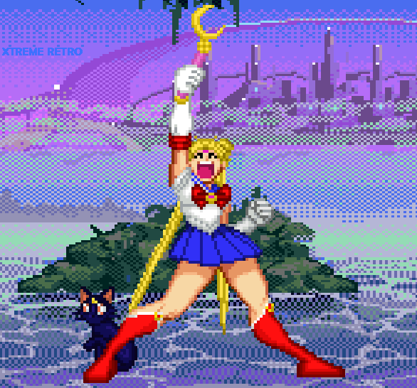 Sailor Moon 3DO Manga Anime Pixel Art Xtreme Retro Beat em Up