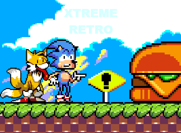 Sonic 2 XL Sega Genesis Mega Drive Pixel Art Xtreme Retro Sonic and Tails