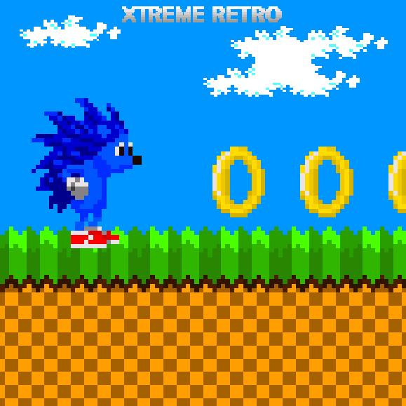 Sonic the Hedgehog 8 bits Sega Master System Game Gear Pixel Art Xtreme Retro