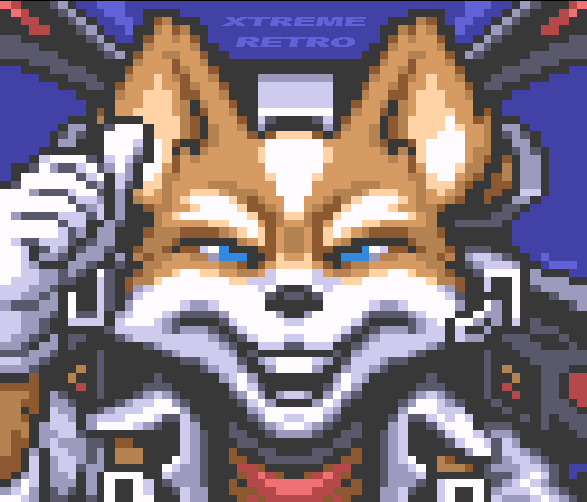Starfox Nintendo 64 Pixel Art Xtreme Retro