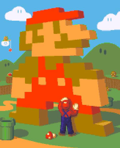 Super Mario Bros Pixel Art Xtreme Retro NES Super Nintendo