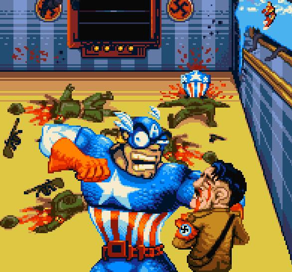 Captain America and the Avengers Arcade Pixel Art Marvel Xtreme Retro