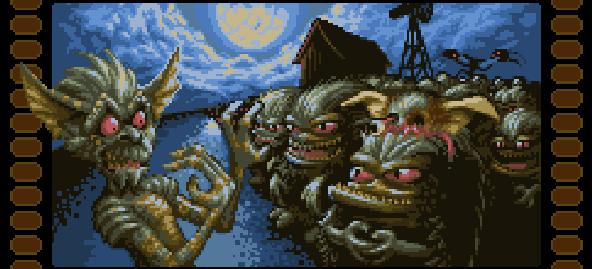 Gremlins Pixel Art Xtreme Retro Movie Famicom