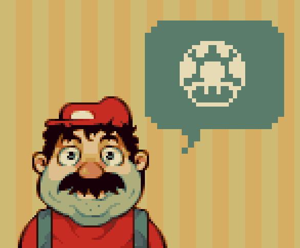 Mario Fundamentals Pixel Art Xtreme Retro Nintendo PC