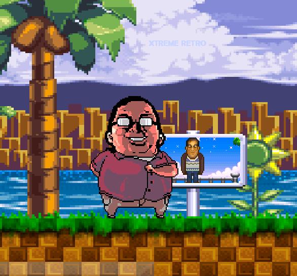 Raúl Montón Borderías Pixel Art Xtreme Retro Super Juegos Mega Sega The Punisher Green Hill Zone