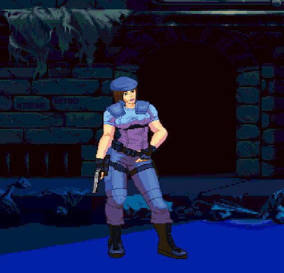 Resident Evil Sega Saturn Pixel Art Capcom Xtreme Retro