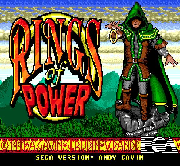 Rings of Power Electronic Arts Naughty Dog Sega Genesis RPG Xtreme Retro