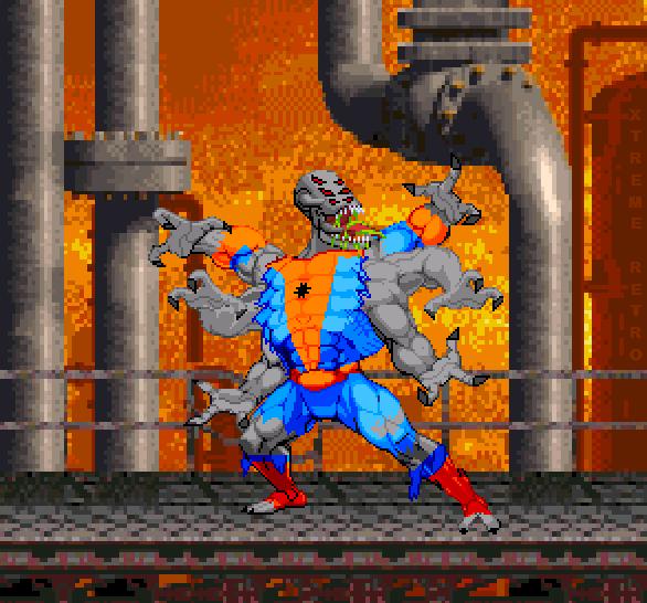 Spiderman Web of Fire Sega 32X Pixel Art Xtreme Retro 1