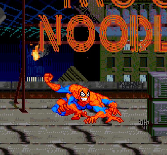 Spiderman Web of Fire Sega 32X Pixel Art Xtreme Retro 4