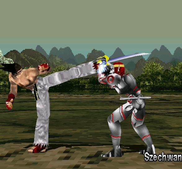 Tekken 1 PSX Kazuya VS Yoshimitsu Xtreme Retro