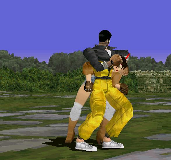 Tekken 1 PSX Law VS Michelle Xtreme Retro