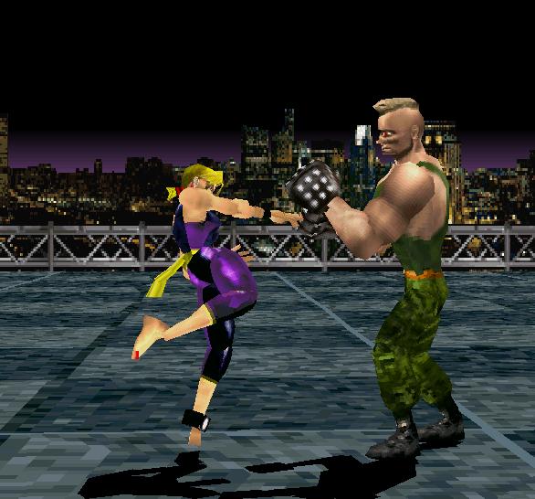 Tekken 1 PSX Nina VS Jack Xtreme Retro