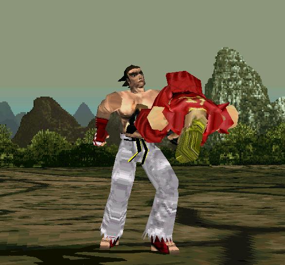 Tekken 1 PSX Paul VS Kazuya Xtreme Retro