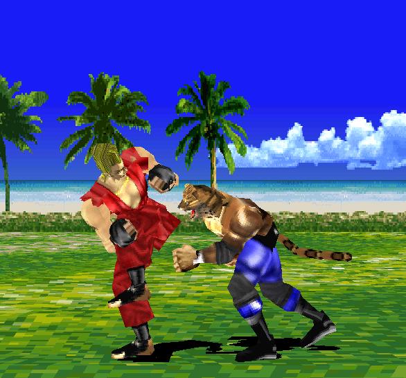 Tekken 1 PSX Paul VS King PSX Xtreme Retro