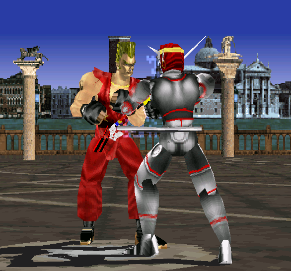 Tekken 1 PSX Yoshimitsu VS Paul Xtreme Retro