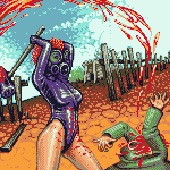 Game Over Pixel Art Gore Xtreme Retro Fatality