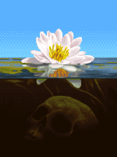 Game Over Pixel Art Xtreme Retro Flower