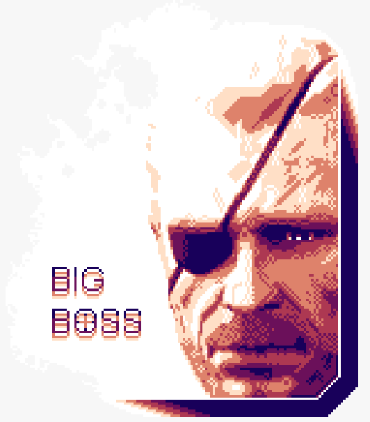 Metal Gear Solid PSX PSOne PS3 Old Big Boss Konami Pixel Art Xtreme Retro