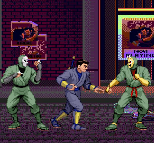 Sega Shinobi Arcade Master System PC Engine Turbografx Pixel Art Xtreme Retro Joe Musashi