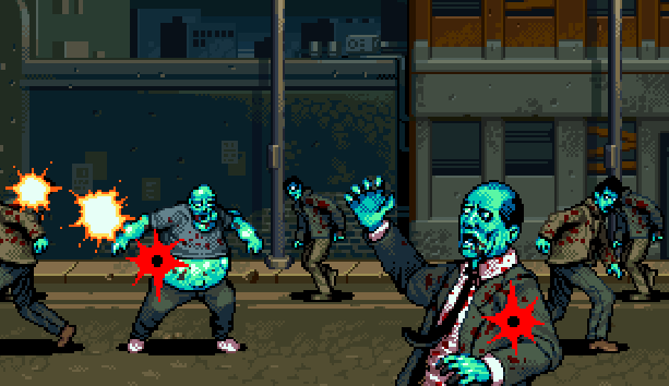 Biohazard Resident Evil Survivor PSOne Capcom Pixel Art Xtreme Retro