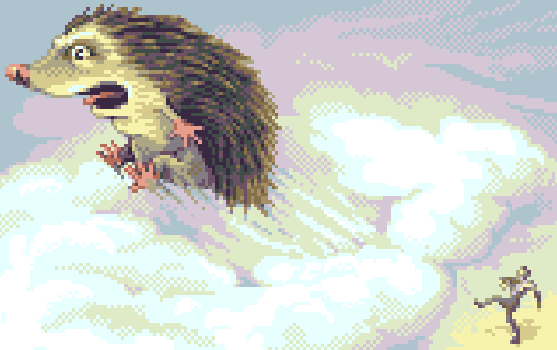 Hedgehog Pixel Art Xtreme Retro