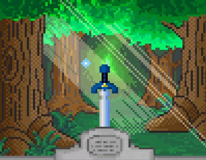 The Legend of Zelda A Link to the Past Master Sword Super Nintendo Pixel Art Xtreme Retro