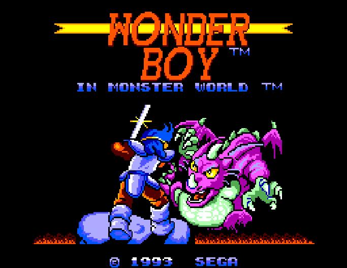 Wonder Boy in Monster World Master System Xtreme Retro 1