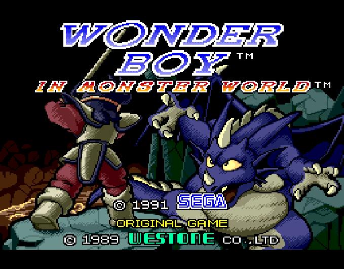 Wonder Boy in Monster World Sega Genesis Mega Drive Xtreme Retro 1