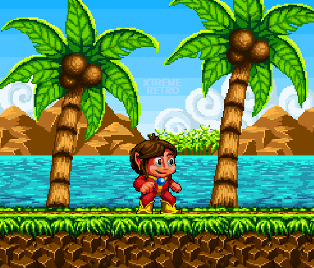 Alex Kidd in Enchanted Castle Sega Genesis Mega Drive Pixel Art Xtreme Retro