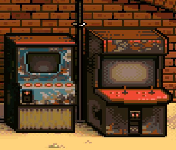 Arcade Cpin Op Pixel Art Xtreme Retro
