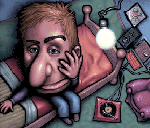 Boy in his room Pixel Art Xtreme Retro
