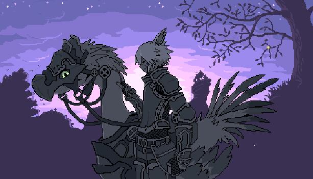 Final Fantasy Chocobo Square Pixel Art Xtreme Retro RPG