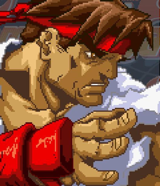Ryu Hoshi Street Fighter Capcom Pixel Art Xtreme Retro Arcade