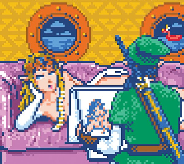 The Legend of Zelda A Link to the Past SNES Titanic Scene Pixel Art Xtreme Retro