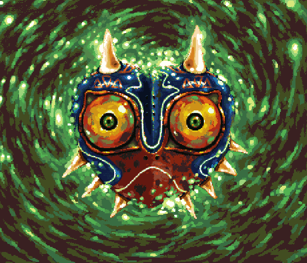 The Legend of Zelda Majoras Mask Nintendo 64 3DS Remake Pixel Art Xtreme Retro