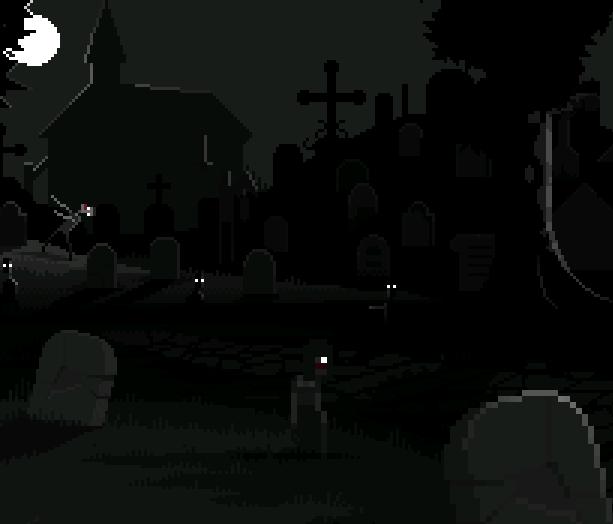 Zombies Undead Graveyard Pixel Art Xtreme Retro