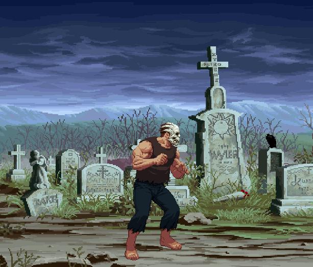 Splatterhouse 3 Sega Genesis Mega Drive Namco Pixel Art Graveyard Cementery Beat em up Xtreme Retro