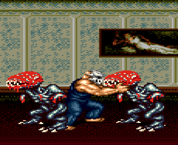 Splatterhouse Part 3 Fairlight Sega Genesis Mega Drive Namco Xtreme Retro Stage 3 Mansion 3rd Floor
