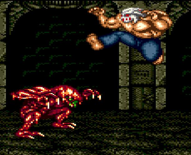 Splatterhouse Part 3 Fairlight Sega Genesis Mega Drive Namco Xtreme retro Stage 5 The Dark Stone B