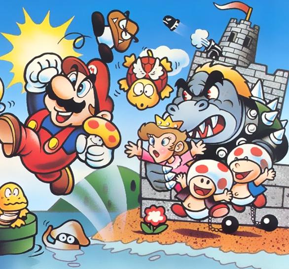 Original Bowser Design Nintendo Super Mario Bros Artwork Xtreme Retro