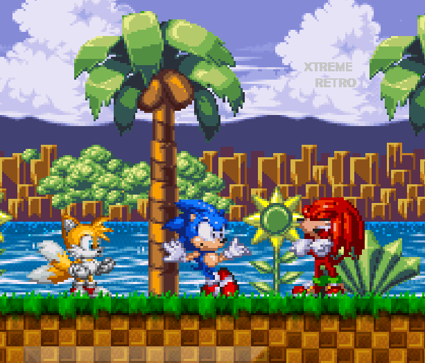 Sonic Classic Heroes Sega Genesis Mega Drive Sonic the Hedgehog Miles Tails Prower Knuckles the Echidna Pixel Art Xtreme Retro