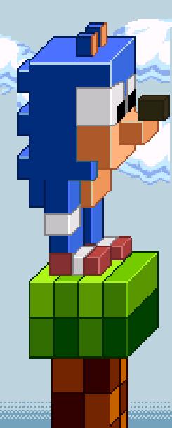 Sonic the Hedgehog SEGA demake Pixel Art Xtreme Retro