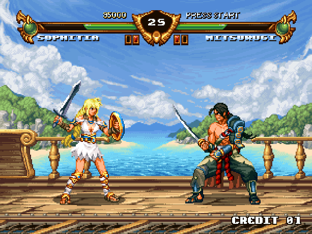 Soul Blade Sega Genesis Mega Drive Namco Pixel Art Xtreme Retro